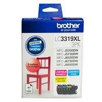 LC-3319XL3PK - Brother LC3319XL CMY Ink Cartridge Colour Pack