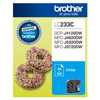LC-233C - Brother LC233 Cyan Ink Cartridge