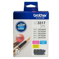 LC-33173PK - Brother LC3317 Ink Cartridge CMY Colour Pack